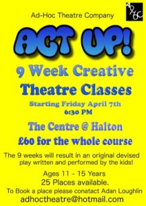 Ad Hoc Theatre drama classes