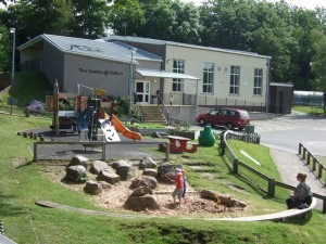 Younger Children's Play Area Front of Building